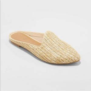NWOT!! Universal thread woven mules